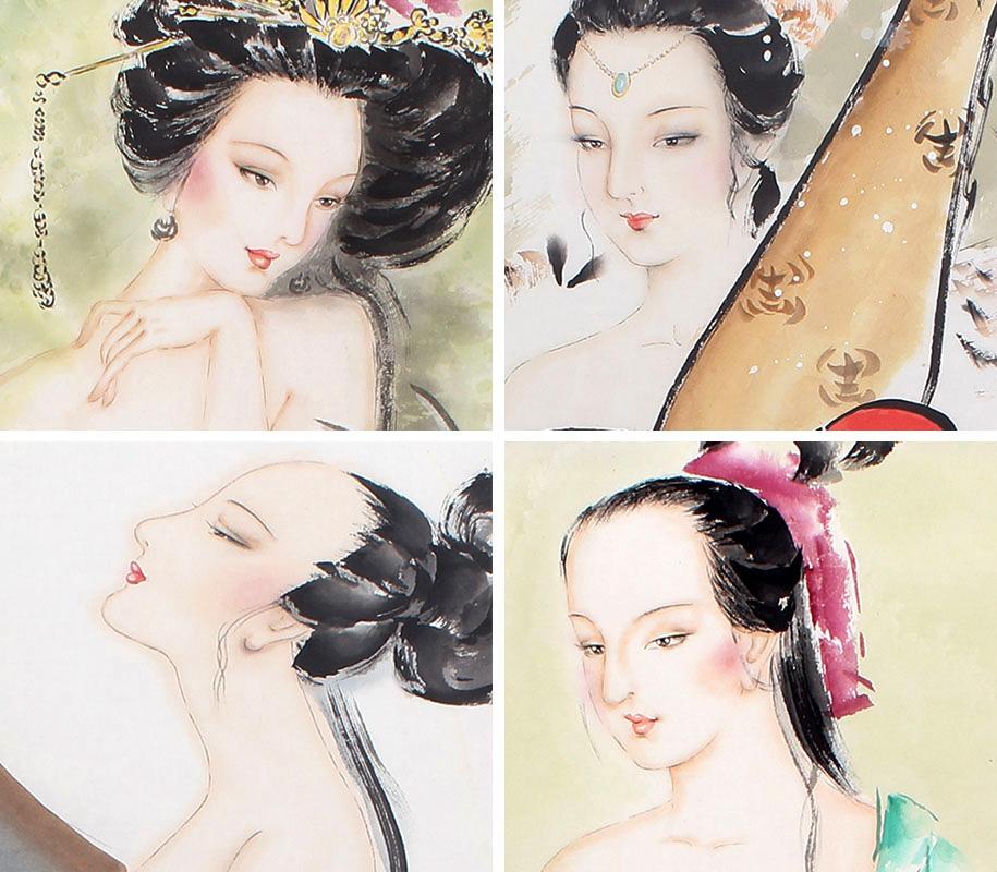 高贵妃唯美图片手绘