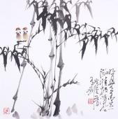 【已售】一级美术师韩有钊四尺斗方国画竹子