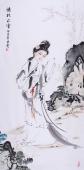 【已售】湖北书画名人李孟尧 四尺人物画《清彩流云》