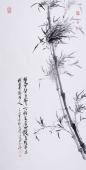 国家画院高级画师孙启珺四尺国画竹子《双竿碧玉》