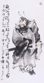 江苏美协石慵三尺人物《钟馗画像》