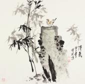 【已售】一级美术师王宝钦四尺斗方《清气》