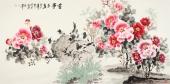 【已售】一级美术师王宝钦六尺国画牡丹图《喜事多多》
