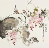 【已售】一级美术师王宝钦四尺斗方《春意浓》