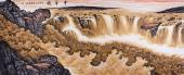广西山水名家周翁弟八尺山水图《中华魂》