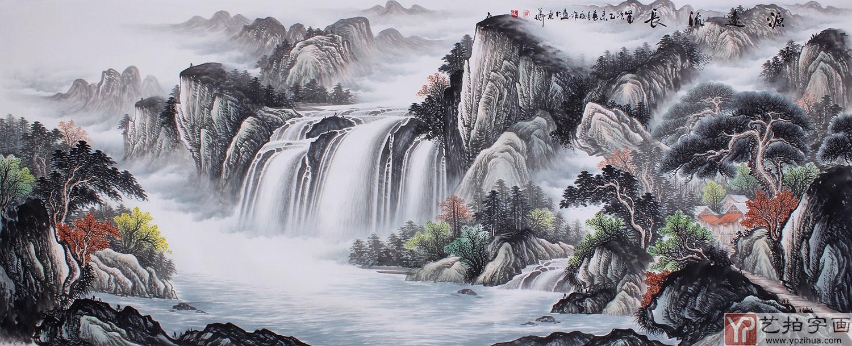 吉祥招财山水风景