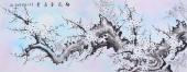 广西花鸟名家周翁弟六尺梅花图《梅花香在骨》