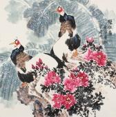 大吉图 张清栋写意花鸟作品《双侣图》