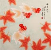 北京美协 凌雪斗方 工笔画《金玉满堂》