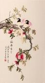 北京美协 工笔画名家 凌雪三尺工笔画《福寿康宁》