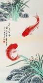 北京美协 工笔画名家 凌雪三尺工笔画《年年有余》