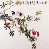 北京美协 工笔画名家 凌雪斗方工笔画《馨香长寿》