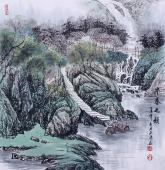 广西著名山水画家欧阳  四尺斗方《早春之韵》