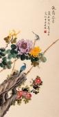 北京美协 工笔画名家 凌雪三尺竖幅《秋菊芬芳》