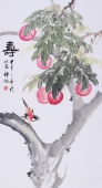 王梓旭三尺工笔动物画作品《寿》