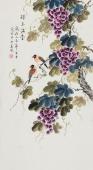 北京美协凌雪工笔花鸟《珠玉满堂》