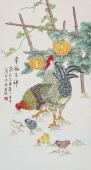 北京美协 工笔画名家 凌雪三尺工笔《幸福吉祥》