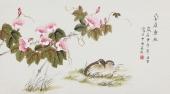 北京美协 工笔画名家 凌雪三尺工笔《安居乐业》