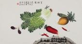 北京美协 工笔画名家 凌雪三尺工笔《百财图》