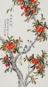 北京美协 工笔画名家 凌雪三尺工笔《大吉大利》