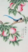 【已售】北京美协 工笔画名家 凌雪三尺工笔《福寿康宁》