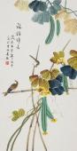 【已售】北京美协 工笔画名家 凌雪三尺工笔《福禄绵长》