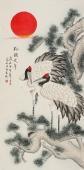 【已售】北京美协 工笔画名家 凌雪四尺工笔画《松鹤延年》