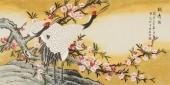 【已售】北京美协 工笔画名家 凌雪四尺工笔画《鹤寿图》