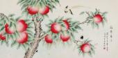 【已售】北京美协 工笔画名家 凌雪四尺工笔画《福寿康宁》