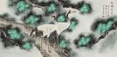 【已售】北京美协 工笔画名家 凌雪四尺祝寿图《松鹤延年》