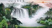 【已售】赵君梅六尺国画山水《紫气东来》