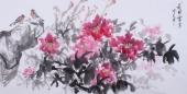 随州市美协秘书长刘耀元 四尺国画牡丹《花开富贵》