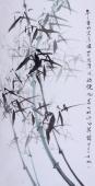 【询价】随州市美协秘书长刘耀元 四尺《年年画竹买清风 买的清风你便松》