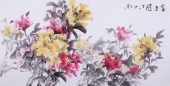 【询价】随州市美协秘书长刘耀元 四尺国画牡丹《富贵图》