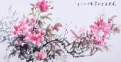 【已售】随州市美协秘书长刘耀元 四尺国画牡丹《花开富贵春常在》