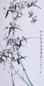 【已售】随州市美协秘书长刘耀元 四尺国画竹子《竹报平安》