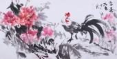 随州市美协秘书长刘耀元 四尺国画牡丹《富贵大吉》