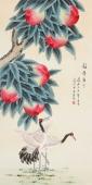 【已售】北京美协工笔画家凌雪 四尺祝寿图《福寿康宁》