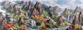 【已售】朝鲜功勋艺术家金星山水画《金刚山》