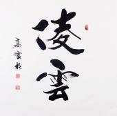 安徽书法名家高云彩书法作品《凌云》