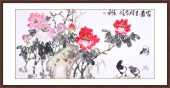 【已售】一级美术师韩有钊四尺牡丹画《富贵吉祥》