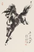 【已售】骏马图 画马名家杨主旺国画马《马到成功》