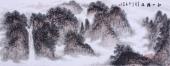 国画家墨之小六尺山水画作品《秋山揽胜》