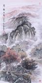 欧阳小写意四尺竖幅客厅装饰画《翠嶺秋华》