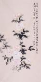 皇甫宜喜四尺花鸟画作品《唯有牡丹真国色》