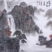 【询价】山水名家郝志强四尺斗方山水画作品《山明水净夜来香》