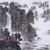 国家一级美术师郝志强精品山水画作品《天水碧 染就一江秋色》