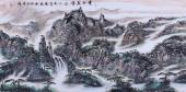 【已售】张永文四尺山水画作品《云水养峰峦》