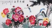 客厅装饰画 井秋月六尺精品牡丹画《国寿无疆》