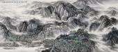 【已售可定制】张振栋六尺山水画欣赏《万里浮云卷碧山》